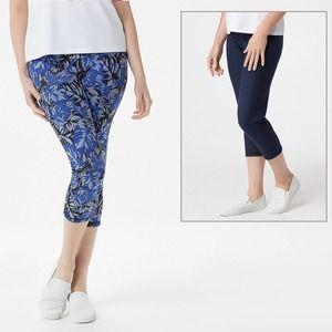 WOMEN w/ CONTROL Reversible Crop Pants